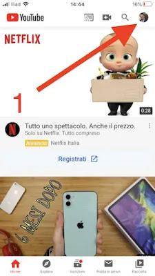 1. visualizzare propri commenti youtube app iphone android_risultato