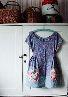 Dottie Angel frock in vintage Laura Ashley textiles by Karen Vallerius