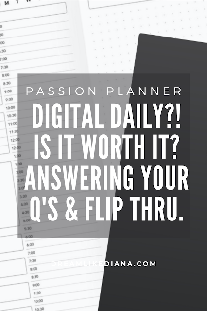 is the passion planner digital daily? pinterest pin