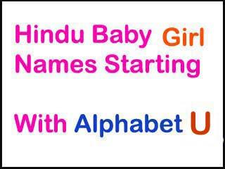 Modern Hindu Baby Girl Names Starting With U