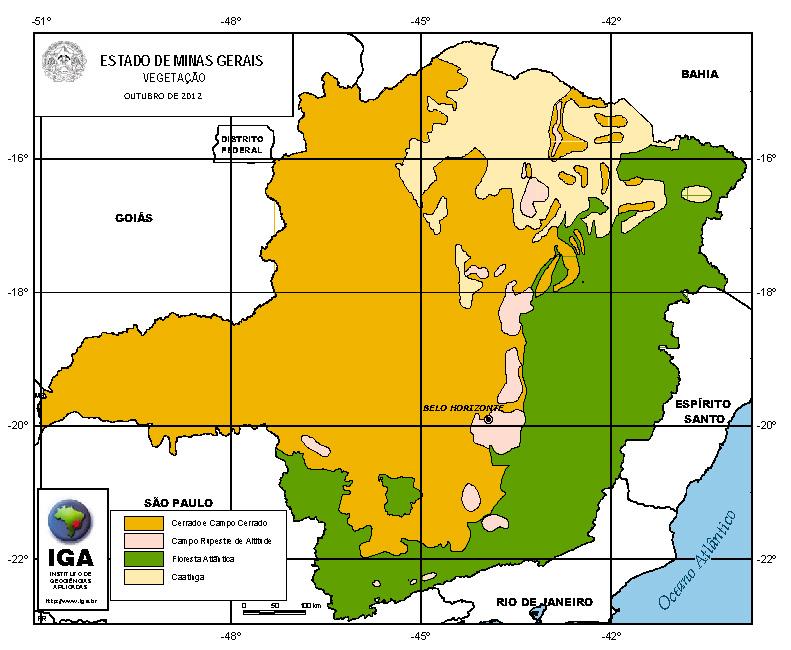 Mapas do Estado de Minas Gerais