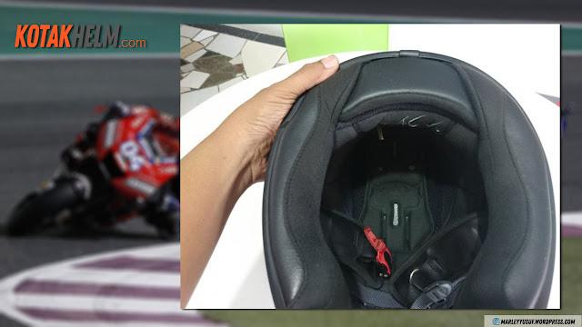 Busa dan kain crown pad KYT K2 Rider