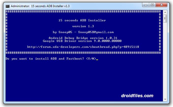 Download 15 Seconds ADB Installer v1.3.0