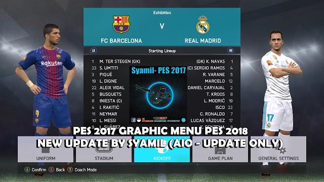 Graphic Menu PES 2018 untuk PES 2017 dari Syamil
