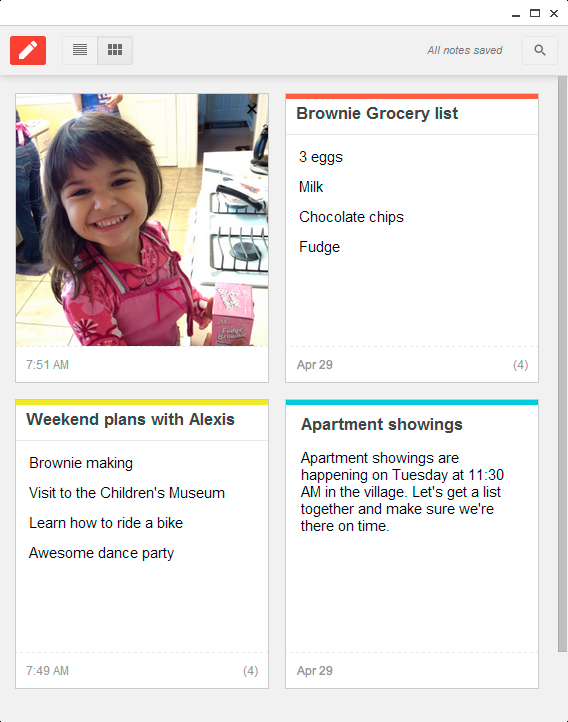 Access Google Keep with the new Chrome app | Miadria