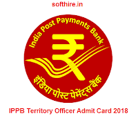 IPPB Territory Officer Admit Card
