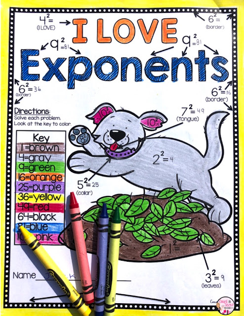 Free Exponent Activities and Practice for the Beginner 4th grade math and 5th grade math