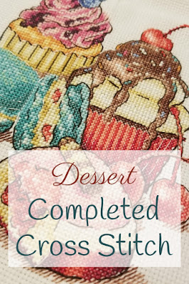 Dessert Cross Stitch Pin