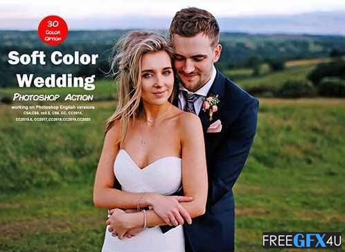 Soft Color Wedding Photoshop Action