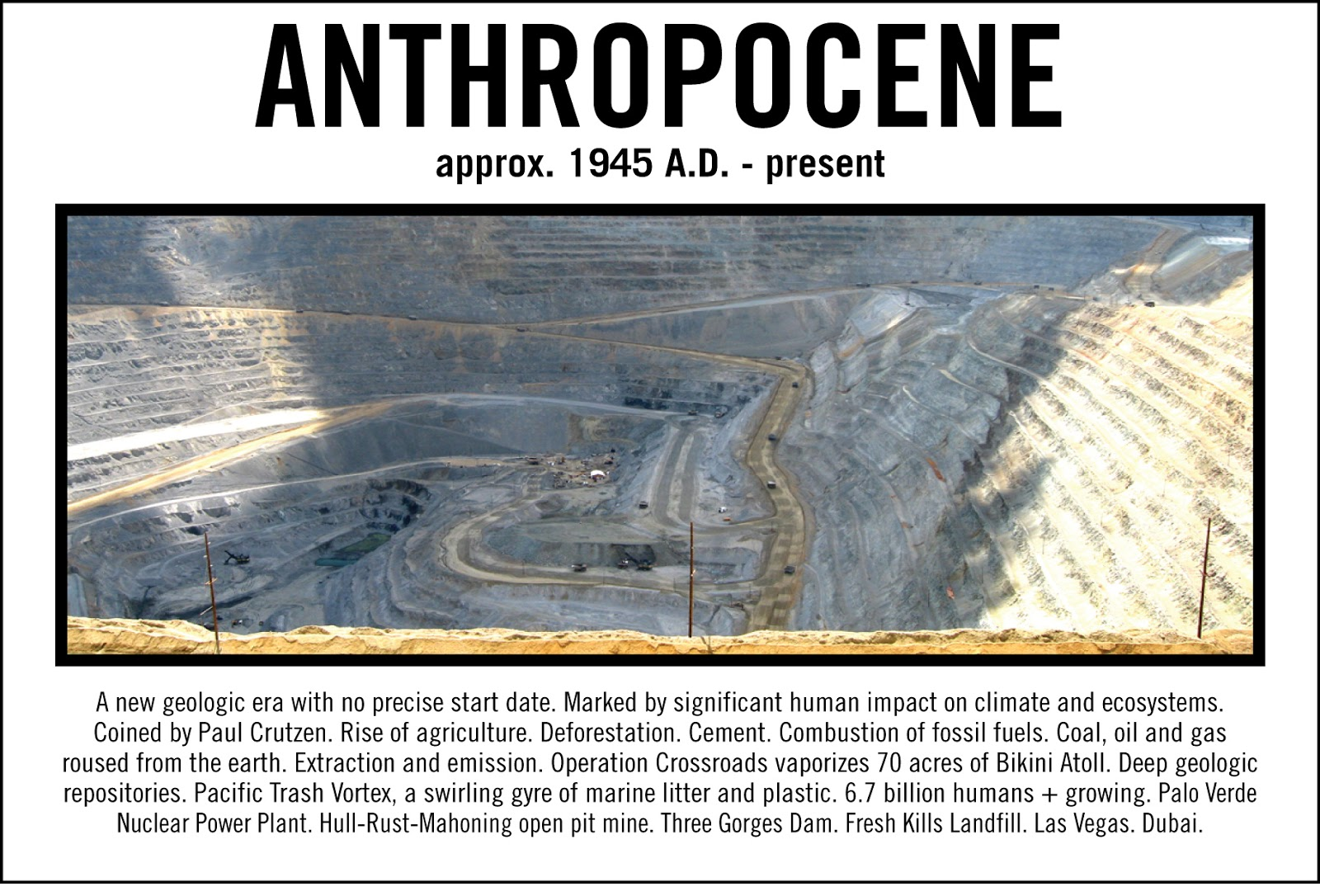 what is anthropocene The beginning of the anthropocene is a subject of heated debate among geologists, anthropologists, and others in the scientific community in order for the anthropocene to become officially recognized as a geological epoch by the international commission on stratigraphy, a start date must be recognized that is global and can be defined stratigraphically by biological, chemical, or other types.