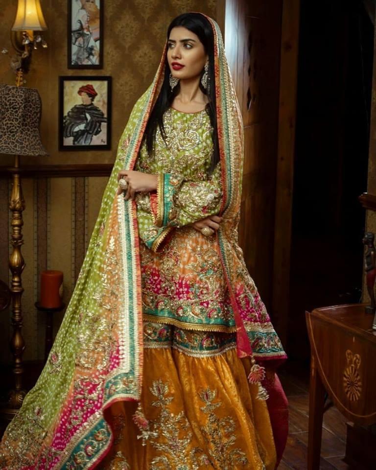 Nickie Nina Pakistani Mehndi Dresses in UK