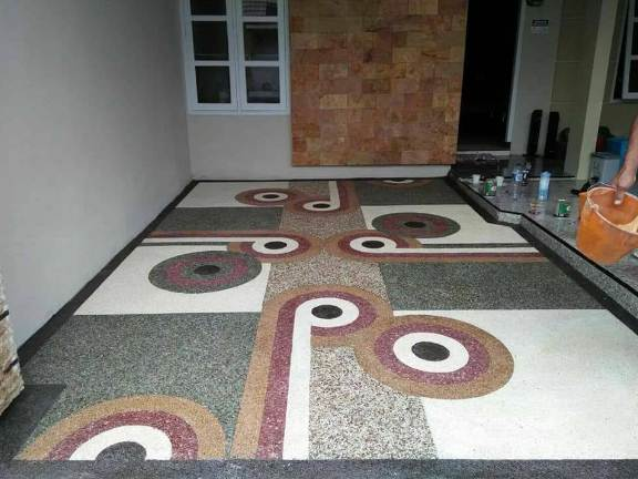 Rumah Minimalis 1 lantai dengan carport motif modern