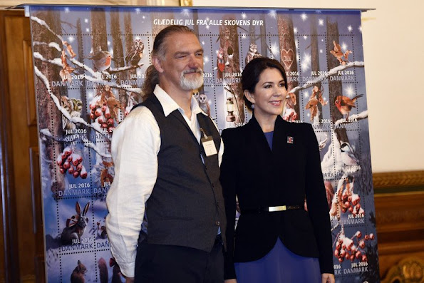 Princess Mary at unveiling of annual Christmas Stamp Collection-Julemærke in Copenhagen