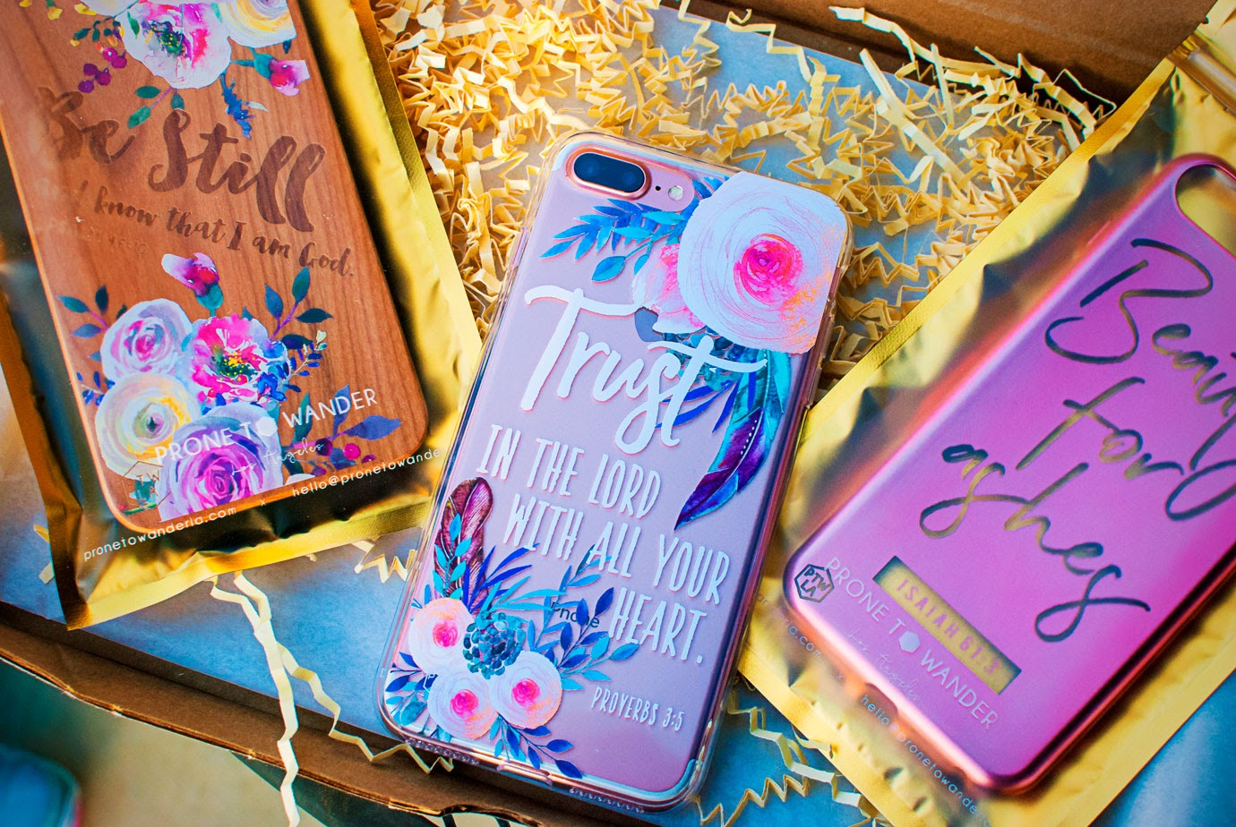 Prone To Wander Phone Cases in a Cute Shipping Box