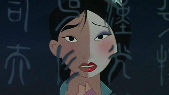 "Mulan ""Reflections"" Split Makeup"