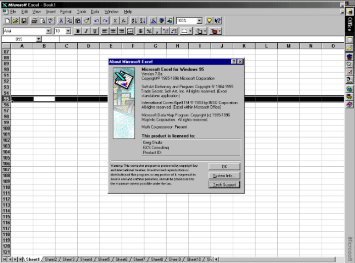 MS Excel 95