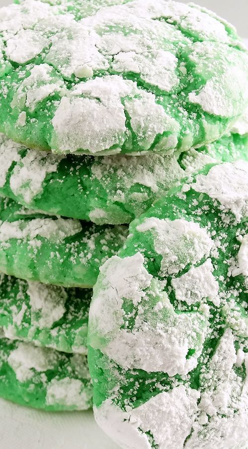 Shamrock Gooey Butter Cookies