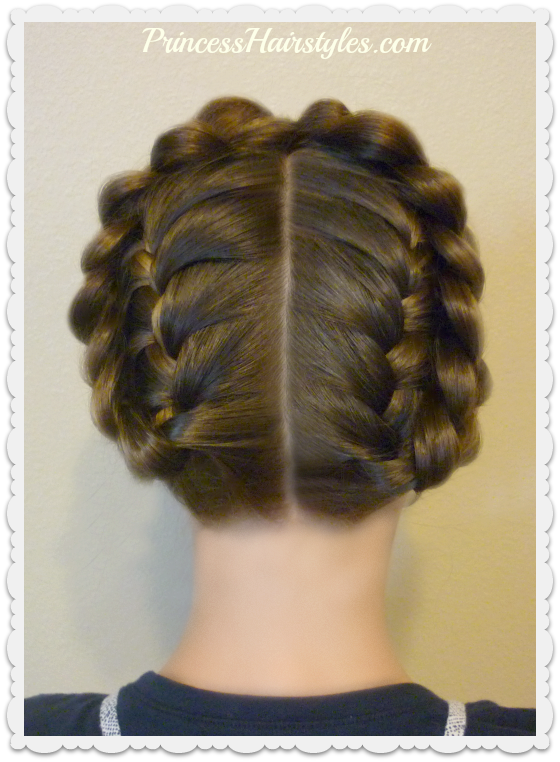 Hairstyles For Girls Princess Hairstyles Easy Halo Or Crown Braid