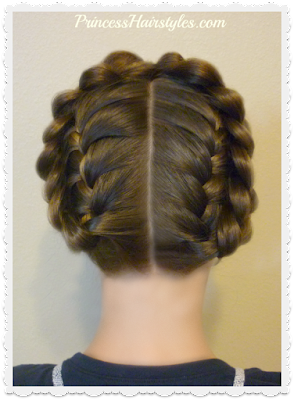"Cute ""Heidi braids"" hairstyle. Easy method."