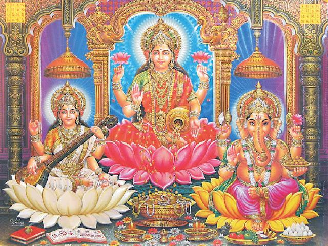 Happy Diwali 2019 HD Lakshmi Ganesha Wallpapers