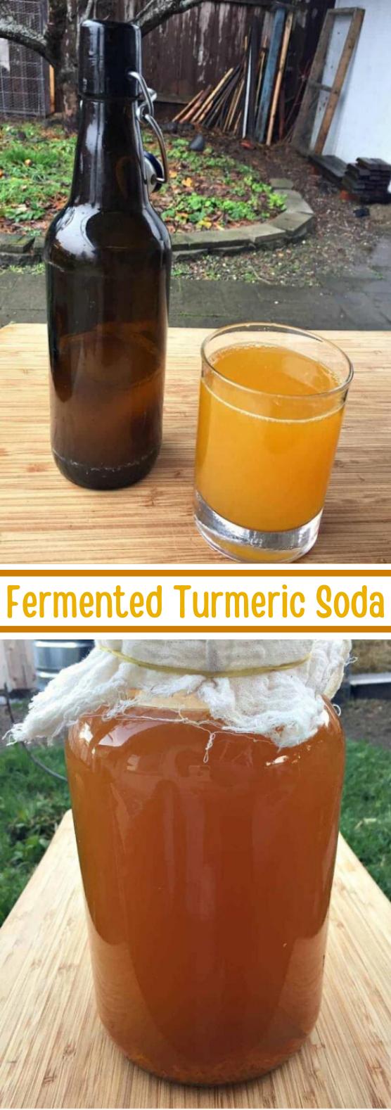 Fermented Turmeric Soda #healthy #drinks #soda #summer #detox
