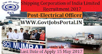 Shipping Corporation of India Limited Recruitment 2017–  Electrical Officer