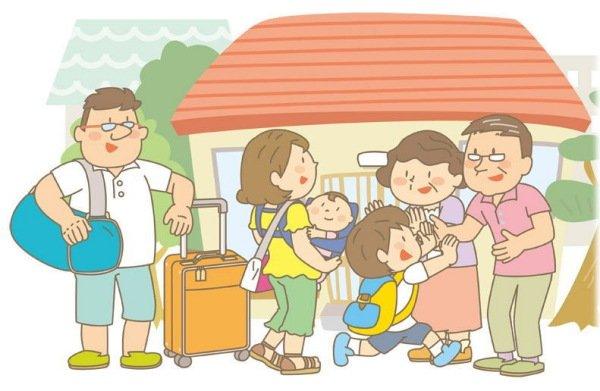 子ども家族の帰省