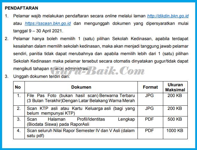 gambar jadwal pendaftaran sekolah kedinasan SSN 2021