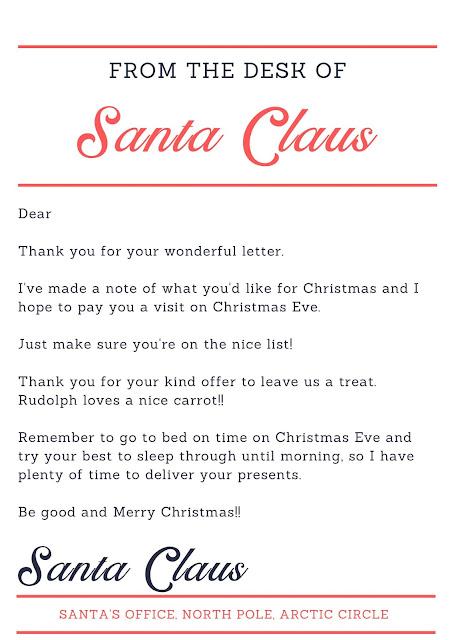 From Santa Letter