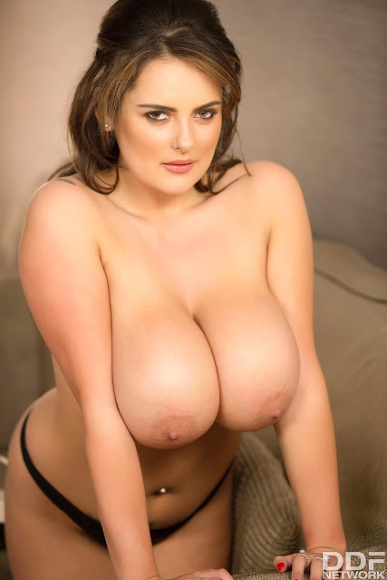 Katie Thornton naked big boobs hanging out