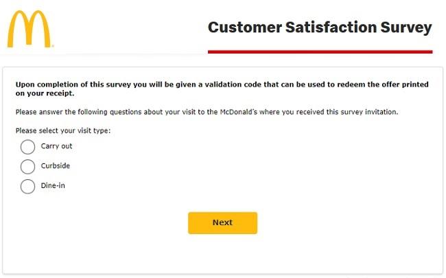 mcdvoice com mcdonald's customer survey