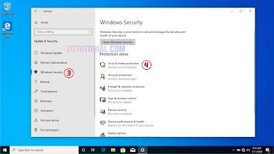 Disable Sementara Antivirus Windows Defender | Windows 10