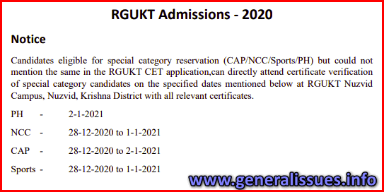Notice on Special Category Verification