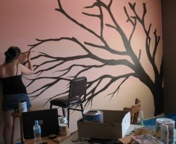 Tutorial Cara Menggambar Di Tembok Dengan Cat Cat Dan Inspirasi Warna
