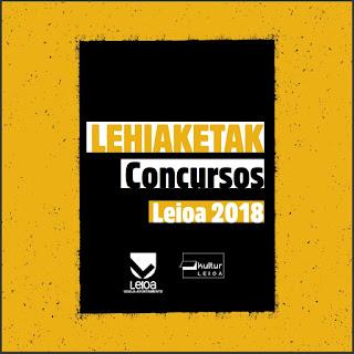 Kultur Leioako 2018. urteko lehiaketen liburuxka