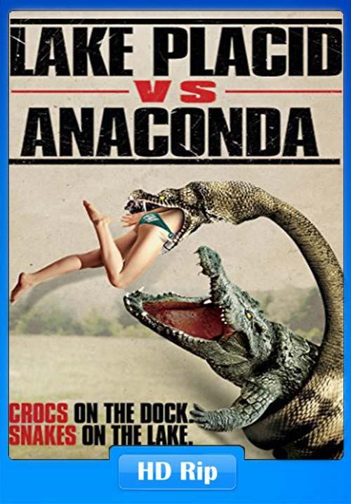 Lake Placid Vs. Anaconda 2015 UNRATED 720p Hindi WEBRip x264 | 480p 300MB | 100MB HEVC Poster