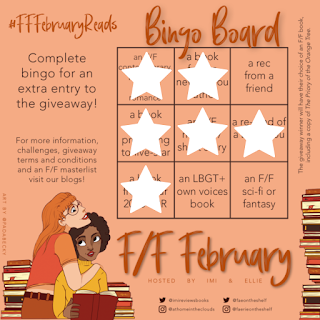 F/F February Reads Bingo board