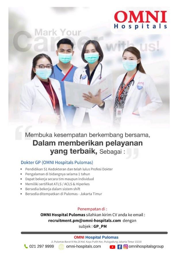 Loker Dokter OMNI Hospital Pulomas Jakarta Timur