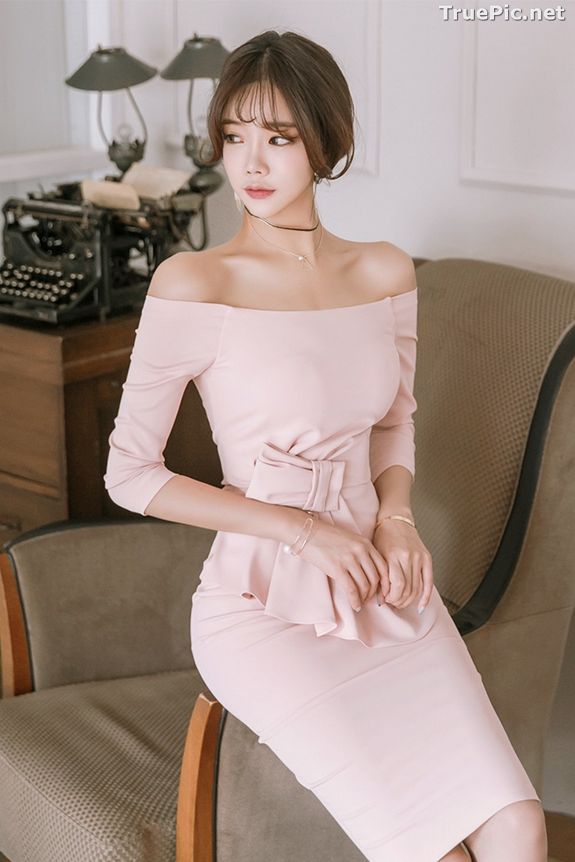 Image Korean Fashion Model - Kang Eun Wook - Slim Fit Bodycon Dress - TruePic.net - Picture-2