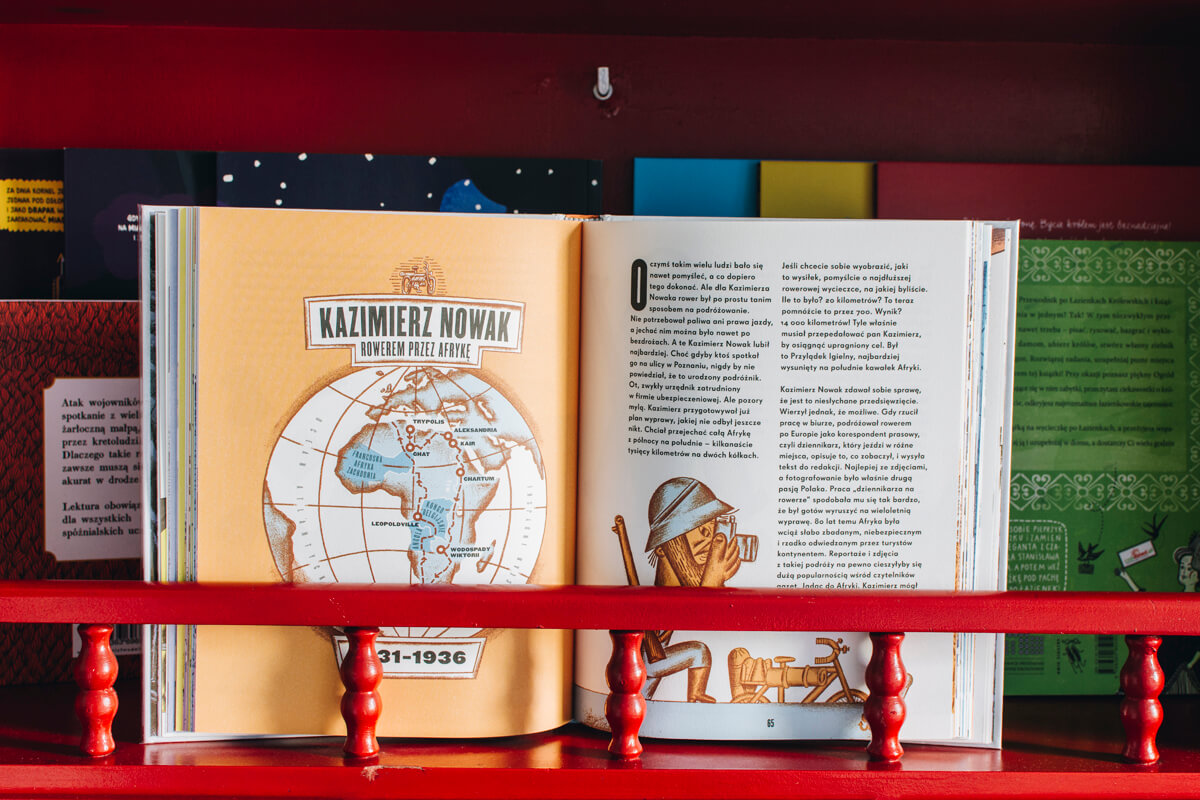 Książka o podróżach dla dzieci