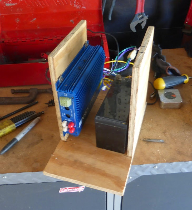 the base of the bike stereo console