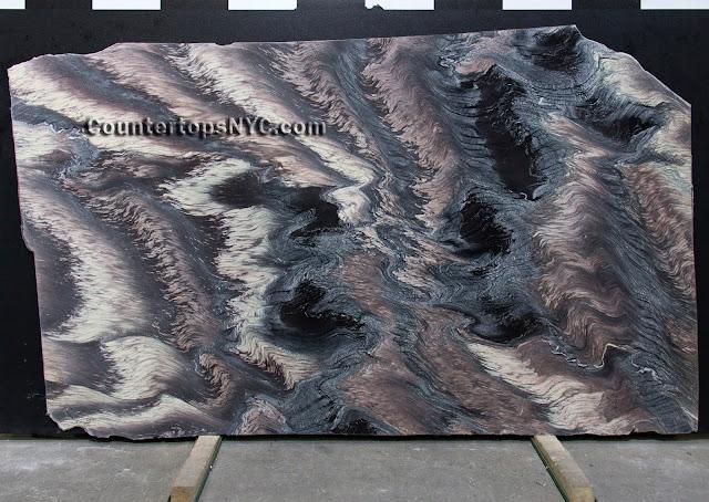 Cipollino Ondulato Rosso Marble slab NYC 2cm