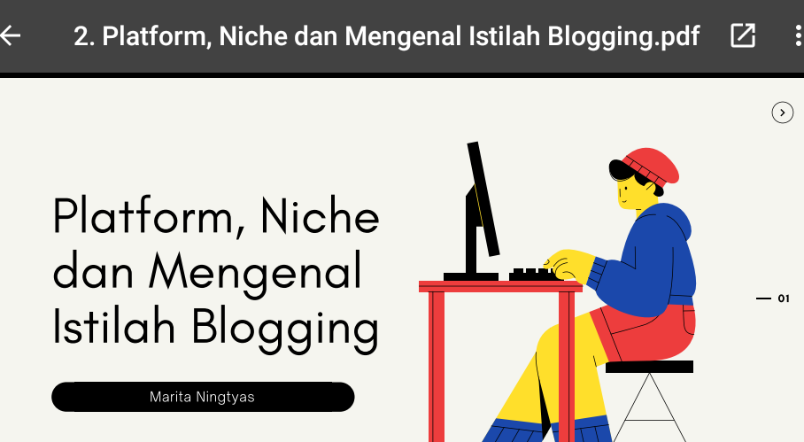 Materi Kedua Blogspedia Coaching Tentang Platform, Niche, dan Mengenal Istilah Blogging