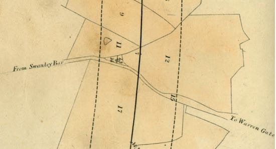 Map from Images of North Mymms - J.Potter