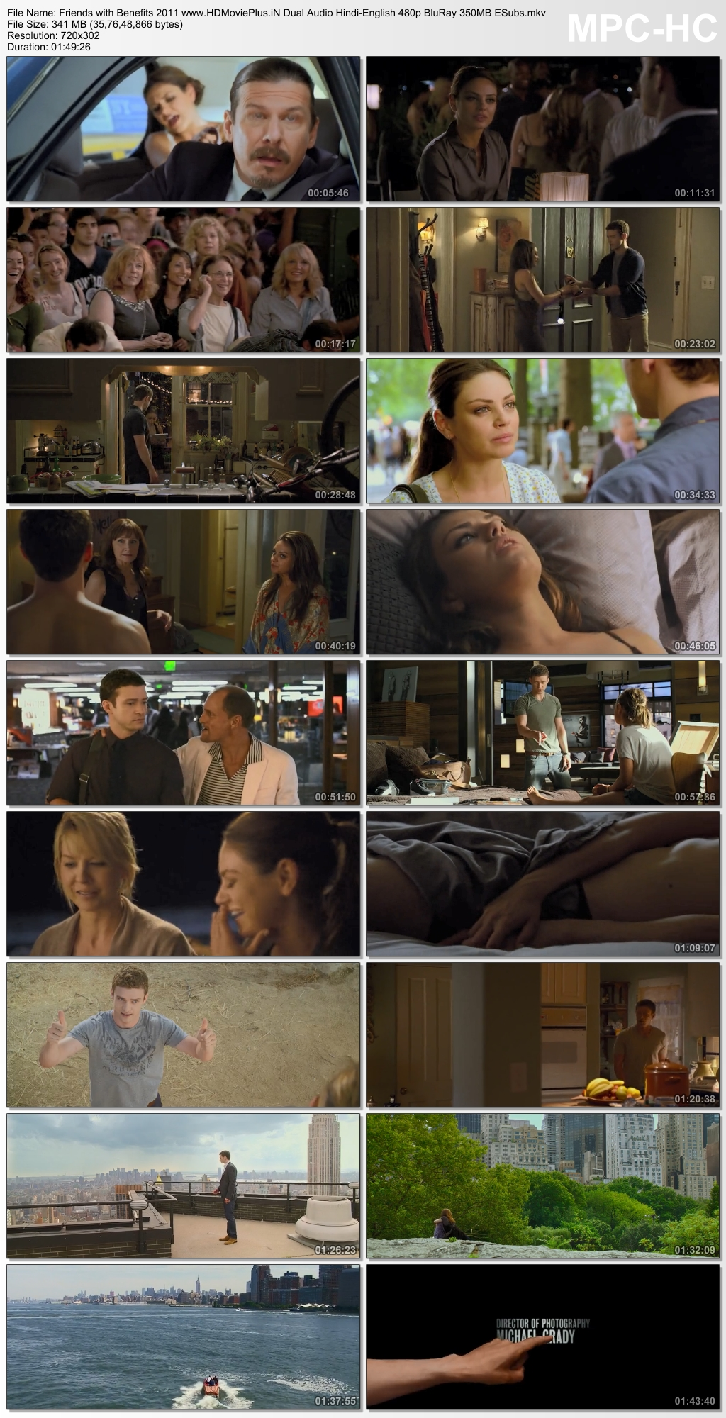 Friends with Benefits 2011 Dual Audio