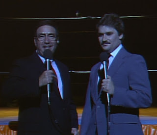 NWA Starrcade 1985 - Bob Caudle and Tony 'The Mustache' Schiavone