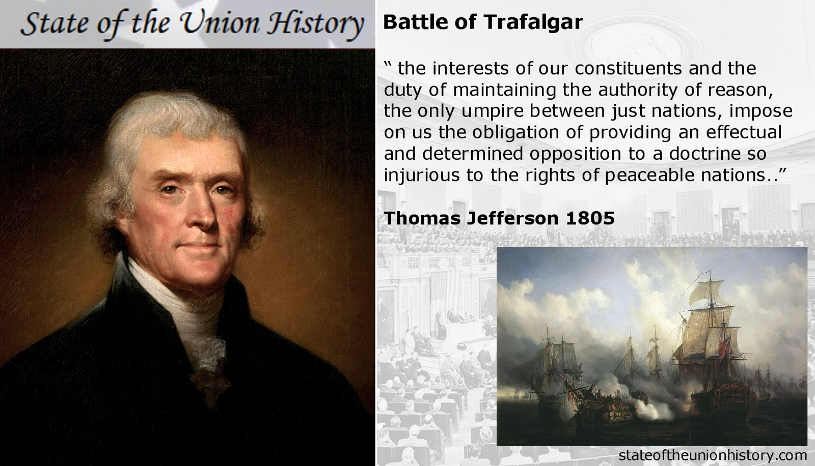 1805 thomas jefferson battle of trafalgar and the supremacy of the royal navy state of the - Thomas jefferson term of office ...