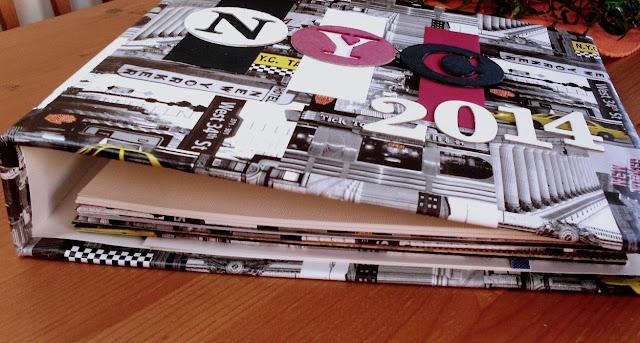 Blanko-Ringbuchalbum individuell eingebunden und gefüllt
