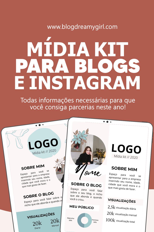 Modelos de Mídia kit para o seu blog