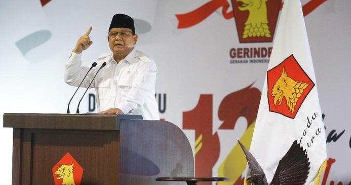 Prabowo Singgung Ketum Parpol Berpangkat Lebih Tinggi, Sindir Siapa?